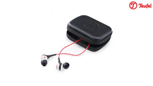 Schick! In dem Case lassen sich die Kopfhörer elegant und sicher verstauen.
